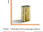 1 Palet 1.920 Adet 0,5 L Kapaklı Kulplu Zeytinyağı Tenekesi - Gold