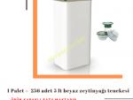 1 Palet 256 Adet 5 L Kapaklı Kulplu Zeytinyağı Tenekesi - Beyaz
