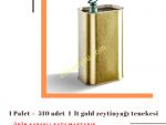 1 Palet 510 Adet 1 L Kapaklı Kulplu Zeytinyağı Tenekesi - Gold