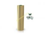 12li Koli 750 Ml Kapaklı Silindir Zeytinyağı tenekesi - Gold