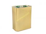30lu Koli 2 L Kapaklı Zeytinyağı Tenekesi - Gold